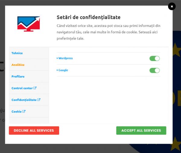 implementare GDPR site wordpress
